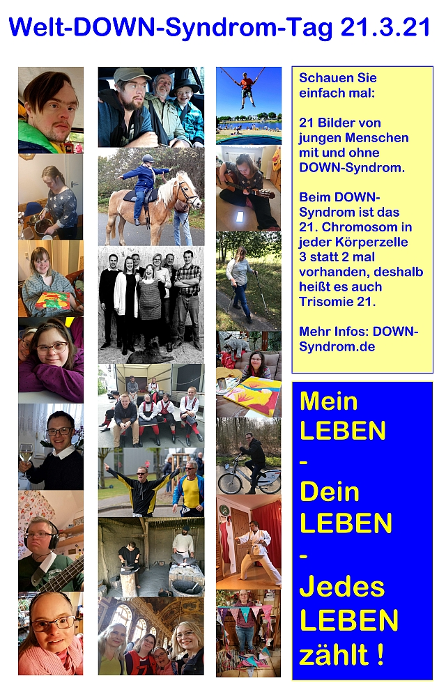 Welt-Down-Syndrom-Tag 2021